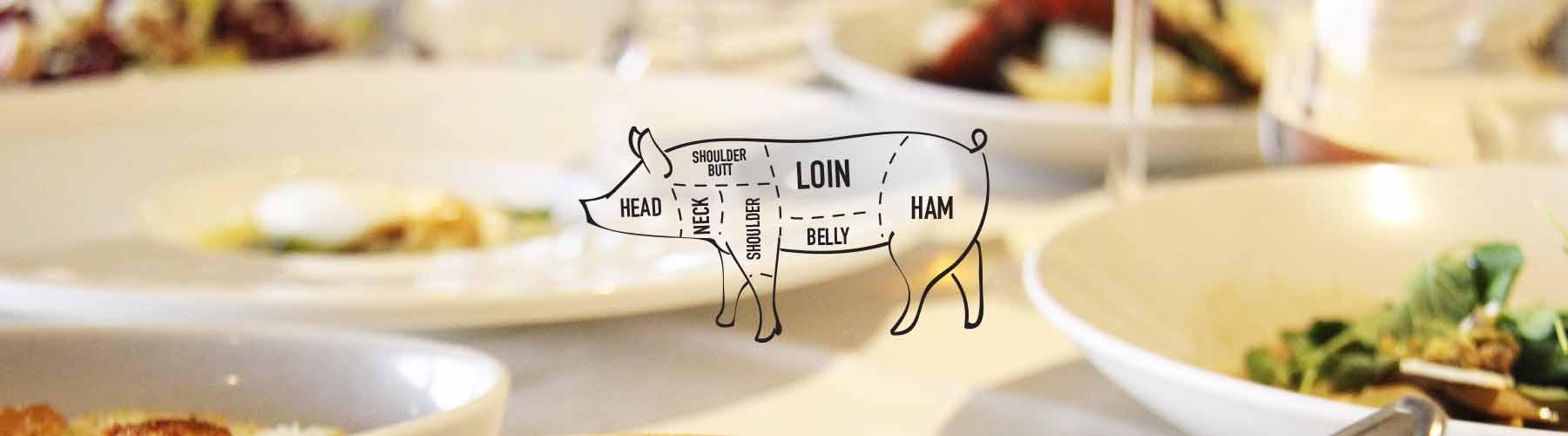 Pork on Dining Table