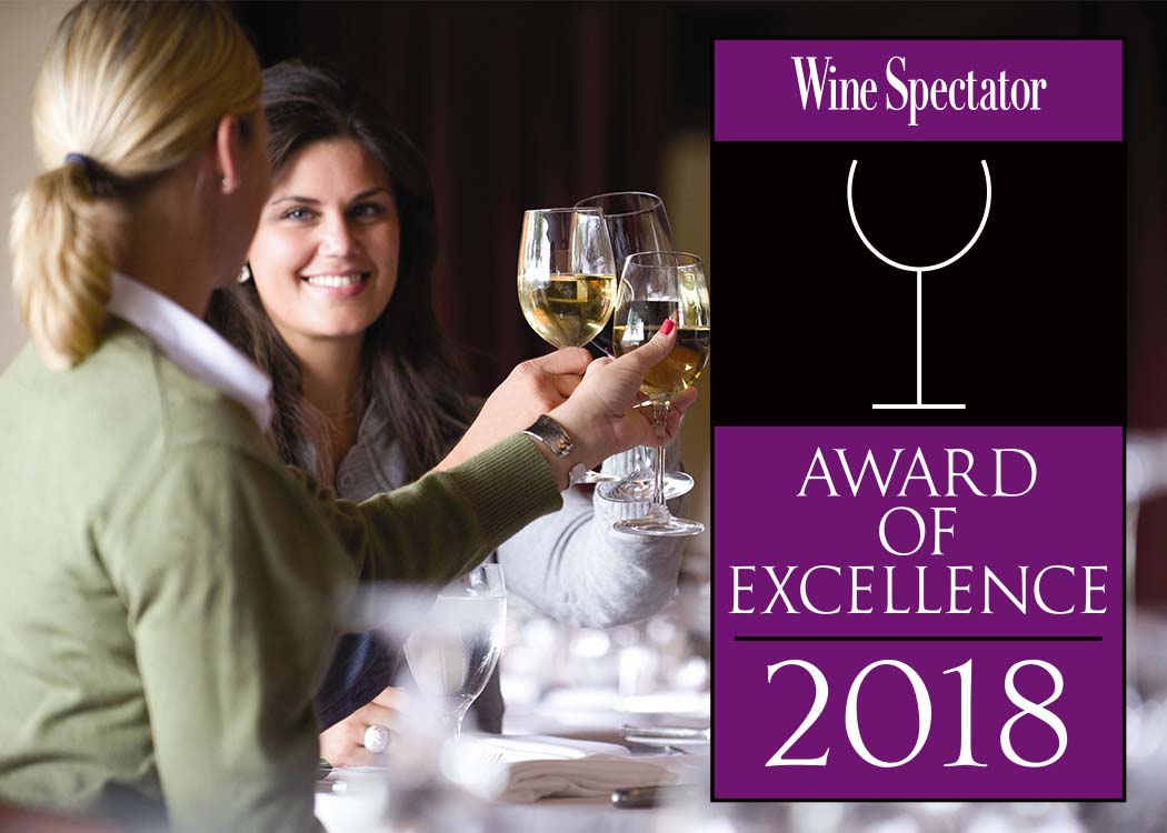 2018 WINE SPECTATOR AWARD OF EXCELLENCE