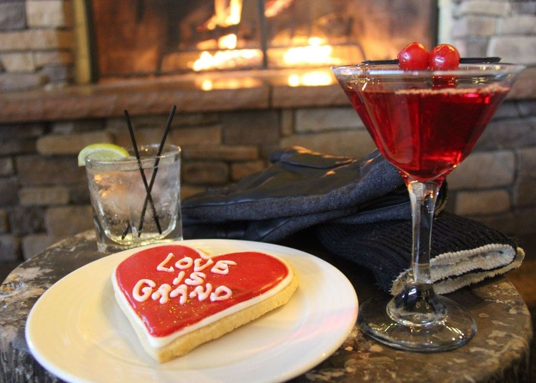 Valentine's Day Cookie by the fire