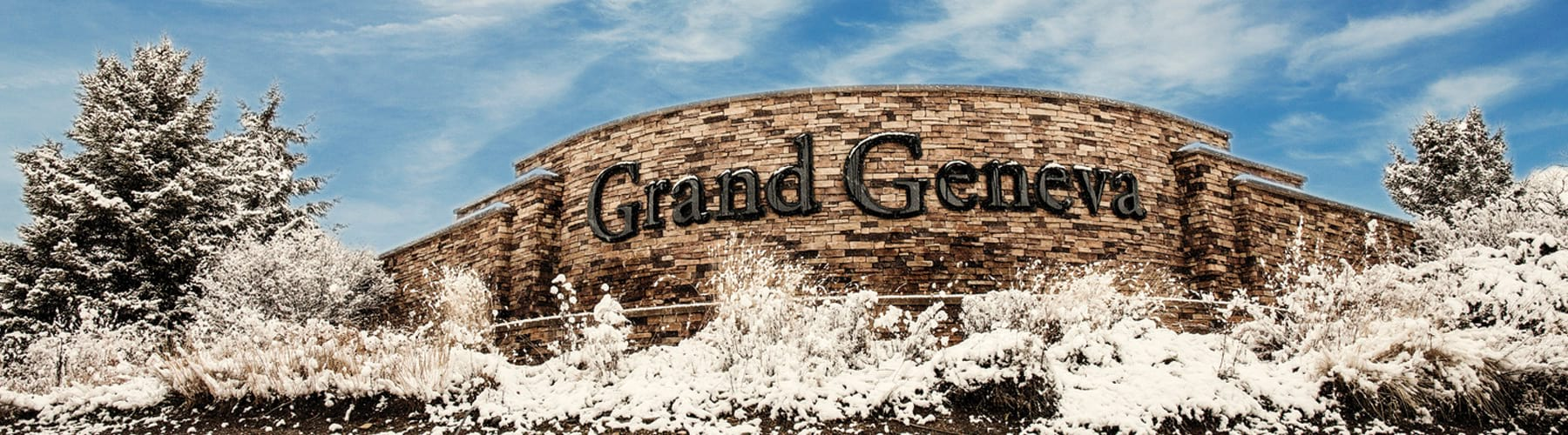 Grand Geneva Entrance in Winter