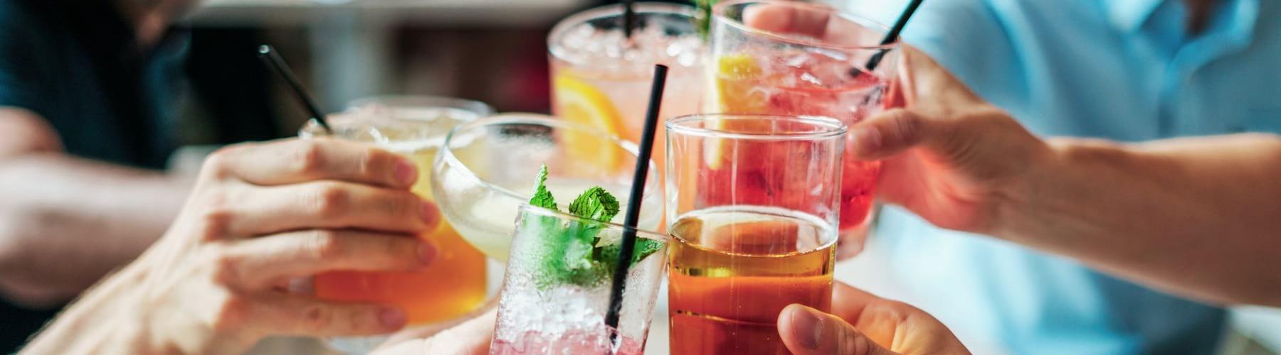 Cocktails in Evolve Lounge