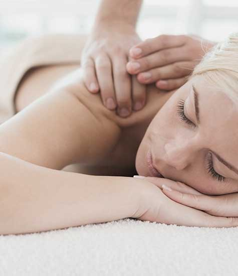Woman relaxing during massage