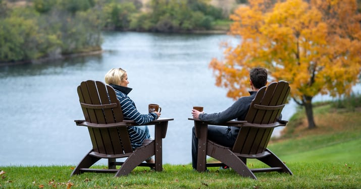 Couple on Adirondack Chairs