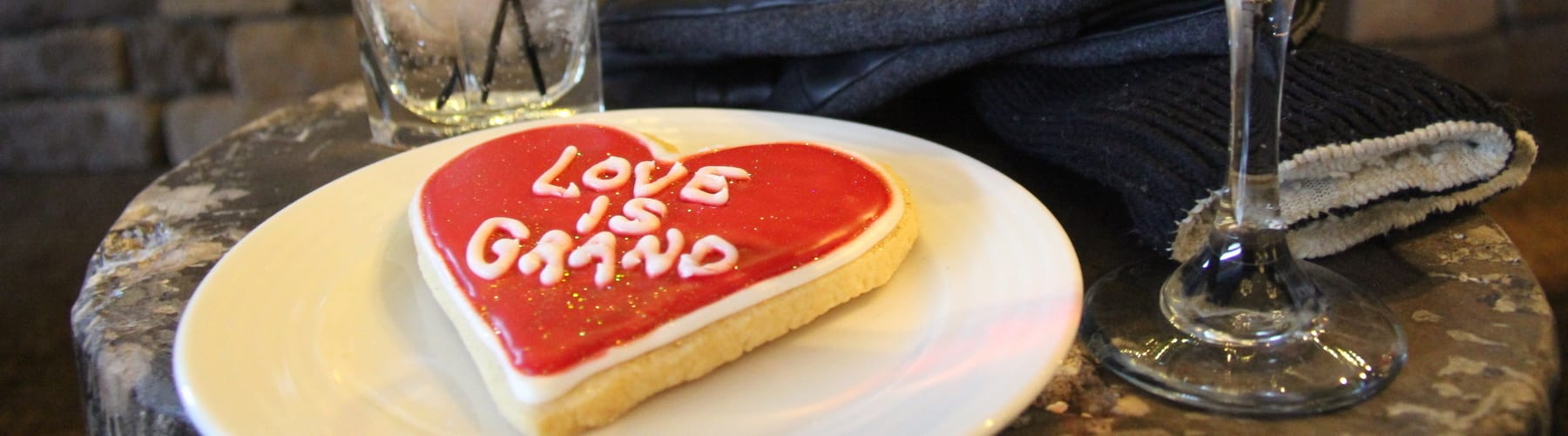 Love is Grand Cookie and Drinks