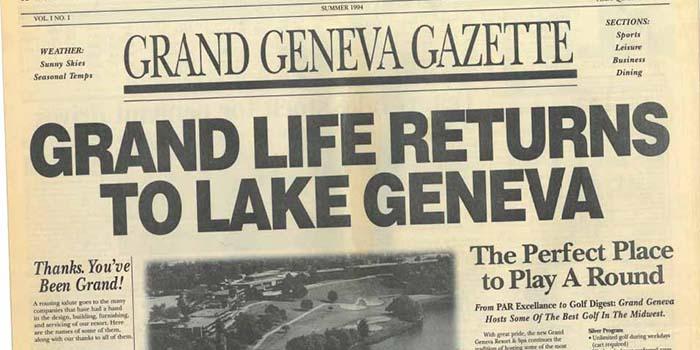 Newspaper Headline from 1994