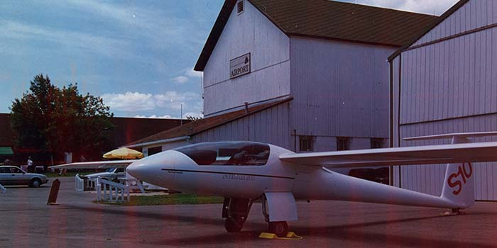 Airplane at Grand Geneva Airport in 1994
