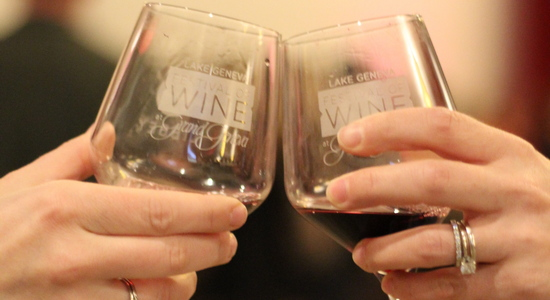 Wine Glasses Toasting