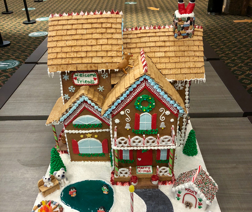 Welcome Friends Gingerbread House