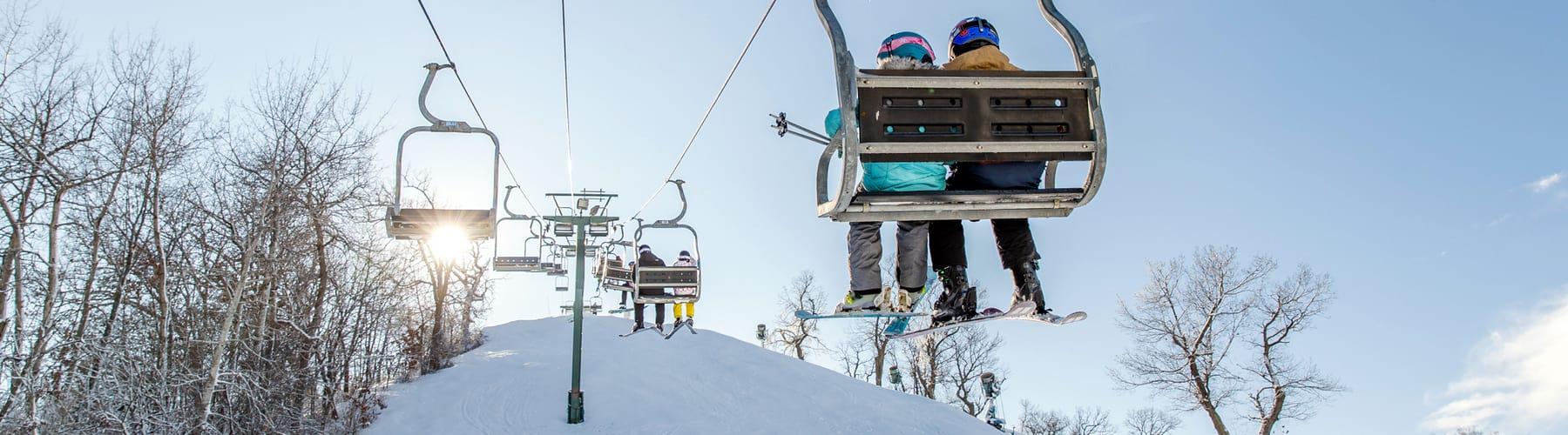 Skiers on Chairlift at Grand Geneva Resort