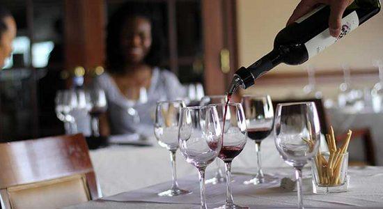 Wine pour at at Tasting Seminar