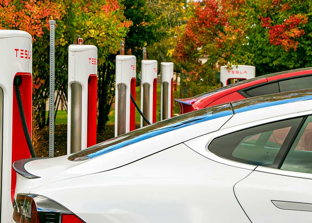 Tesla Car Charging Station